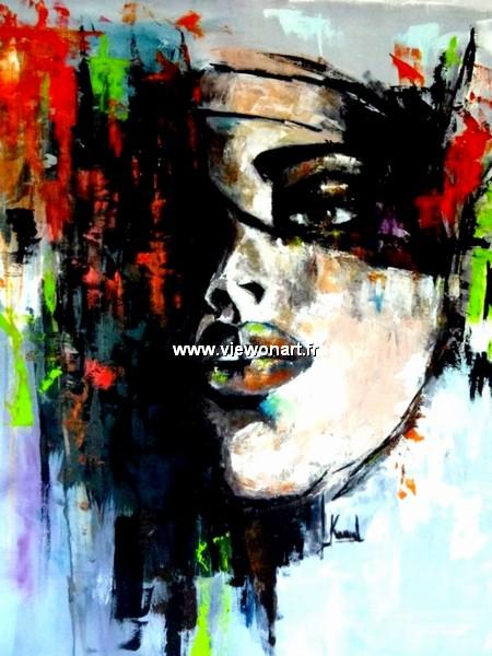 Elle creations peinture femme - Peinture contemporaine au couteau ...